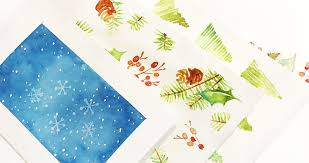 easy watercolor cards step