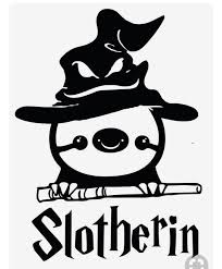 Slotherin Vinyl Decal Sticker Slytherin Sloth Funny Sticker Car Decal Laptop Sticker Window Sticker Har Sloths Funny Funny Stickers Harry Potter Shirts