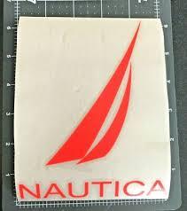 1 Nautica Car Vinyl Sticker Decal Color Fluorescent Orange Ebay
