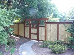 Dazzling Bamboo Fencing In Landscape Asian With Bamboo Gate Next To Fence Panel Alongside Fence Design And Garden Fences And Gates