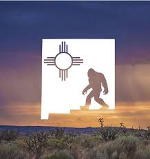 New Mexico Decal New Mexico Bigfoot Zia Decal Sasquatch Etsy