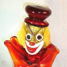 murano glass art clown evil scary ball
