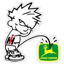 Rg Graphix Ih Calvin Peeing On John Deere Decal