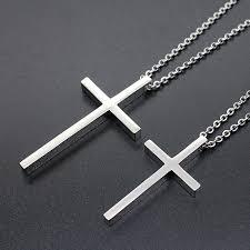mens big medium small cross pendant