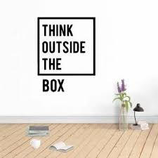 Hot Deal 38932d Think Outside The Box Quote Vinyl Wall Sticker Home Decor Stikers Pvc Wall Decals Office Room Decoration Murals Vinilo Pared Cicig Co