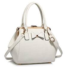 cream and white leather bag co uk