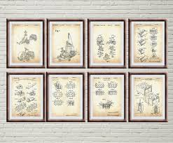 Lego Patent Posters Kids Wall Art Lego Toys Lego Poster Etsy