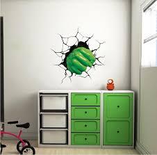 Hulk Fist Wall Decal Avengers Smash Wall Art Kids Bedroom Marvel Wall American Wall Designs