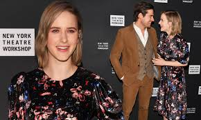 Rachel Brosnahan dazzles in satin floral with husband Jason Ralph ...