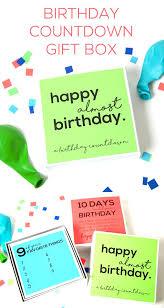 diy gifts birthday countdown gift box