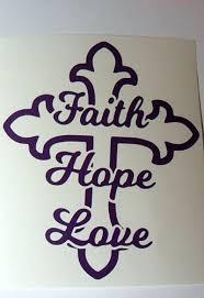 Faith Hope Love Cross Vinyl Decal Sticker Car Window Glass Block Handmade Handmade Glass Blocks Glass Art Projects Broken Glass Art