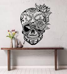 Sugar Skull Wall Decal Sugar Skull Sticker Sugar Skull Etsy