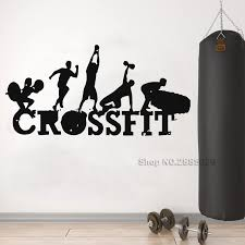 Sport Sign Wall Decal Sticker Workout Gym Fitness Wall Decals Bodybuilding Murals Art Posters Removable Vinyl Lc1379 Wall Stickers Aliexpress