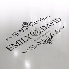 Premium Luxury Wedding Logo Dance Floor Event Custom Decor Sticker Vinyl Decal Ebay