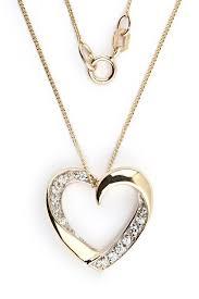 heart shaped diamond pendant