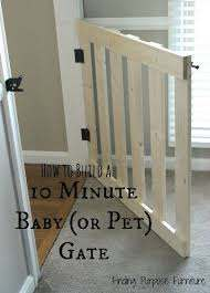 How To Build A 10 Minute Baby Pet Gate Home Projects Home Diy Pet Gate
