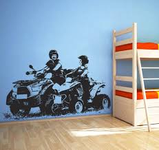 Amazon Com Quad Bike Atv Wall Decals 4 Wheeler Off Road Wall Sticker 4x4 Atv Wall Decal Decor 4 Wheeler Kids Bedroom Wall Decor Art Atv Mural And Stick Wall Decals Home