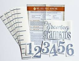 Diy Vinyl Growth Chart Ruler Decal Kit Large Style Our Growing Grandkids Ebay