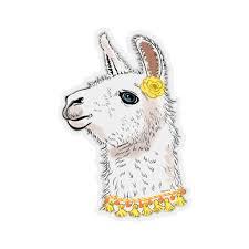 Llama Head Sticker Alpaca Illustration Laptop Decal Vinyl Cute Waterb Starcove Fashion