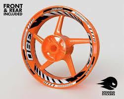 Mc Motoparts 17 Wheel Rim Stickers Gp01 Edge Inner Wall Decals Tape Diy Racing For Honda Ktm Yamaha Orange Wheels Accessories Motorcycle Atv
