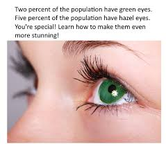 how to make green or hazel eyes look