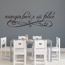 Large Italian Eat Drink Be Happy Wall Sticker Kitchen Dining Room Italy Family Love Quote Wall Decal Restaurant Vinyl Home Decor Wall Stickers Aliexpress