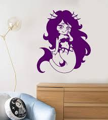 Vinyl Wall Decal Little Mermaid Cartoon Anime Children S Room Decor St Wallstickers4you