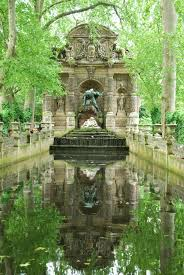 medici fountain luxembourg garden stock