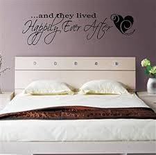 Amazon Com Valuevinylart And They Lived Happily Ever After Wall Decal Black 36 X 10 Home Kitchen