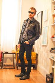 faux leather charles and a half jackets