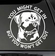 Rottweiler You Might Get In K 9 Vinyl Decal 6 Car Truck Window K9 Sticker Ebay