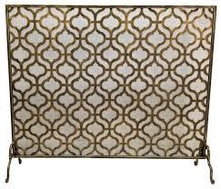 fireplace screen large single panel