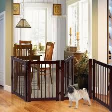 Indoor Pet Gate Wood Dog Fence 4 Panel Folding Zig Zag Kids Children Wooden Pen For Sale Online
