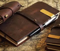 cowhide vintage notebook journal blank