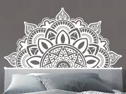 Half Mandala Wall Decals Mandala Decal Headboard Vinyl Etsy