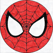 Spiderman Round Rug Can Be Made In Any Size For A Child S Room Superhero Printables Spiderman Birthday Spiderman Party