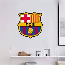 Amazon Com Uisat Fc Barcelona Wall Art Decal Sport Soccer Team Logo Sign Sticker Home Kitchen