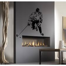 Shop Black Silhouette Of Ice Hockey Player Wall Art Sticker Decal Overstock 11751646
