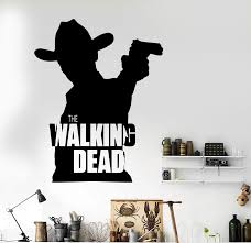 Classic Removable Walking Dead Wall Decal Cowboy Wall Decal Home Deco Wall Sticker Car Sticker Bedroom Mural D197 Wall Sticker Stickers Bedroomwall Decals Aliexpress