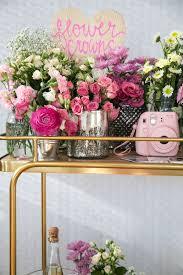 diy flower crown bar flower crown bar