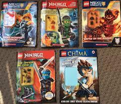 lot 5 lego minifigure books. 2 Nexo 2 Ninjago 1 China (mini figure ...