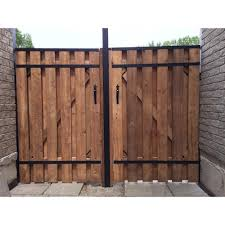 Slipfence 4 Ft X 6 Ft Wood And Aluminum Fence Gate Sf2 Gk100 The Home Depot Fence Design Wood Fence Gates Privacy Fence Designs