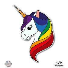 Gt Graphics Unicorn Cute Rainbow 5 Vinyl Sticker For Car Laptop I Pad Waterproof Decal Walmart Com Walmart Com