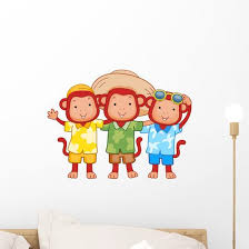 Monkey Friends Wall Decal Wallmonkeys Com