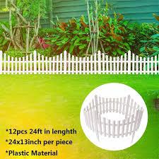12pcs 7 32m White Flexible Plastic Garden Picket Fence Lawn Grass Edge Edging Border Lazada Ph