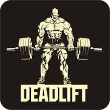 Deadlift Bodybuilder With Barbell Sticker