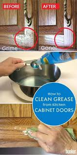 cleaning s kitchen cabinet doors