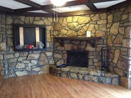 how to paint a stone fireplace with