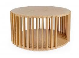 woodman drum coffee table oak furgner