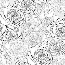 Roses Pattern Free Buscar Con Google Pinturas Grisalla